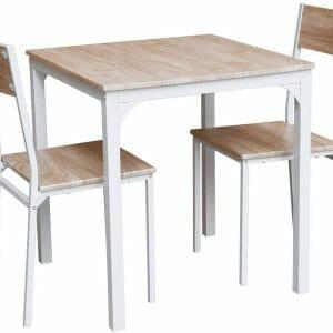 オーエスジェイ(OSJ) 四角 ダイニング 3点セット ダイニングテーブル ダイニングセット 食卓 チェア2脚 幅90 コンパクトサイズ 2人掛け おしゃれ 新生活